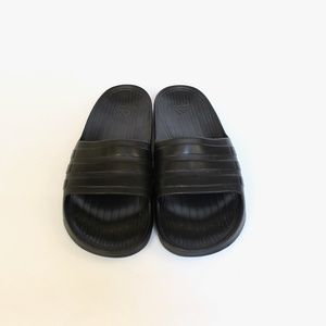 9b2a1df1b0706c adidas Shoes - Adidas Solid Black Slides Mens Soccer Sandals